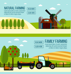 natural and famaly farming banner vector image