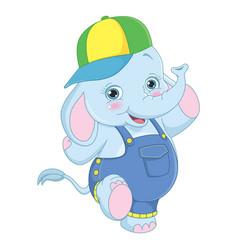 of cartoon elephant vector image
