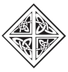 a square celtic knots design vector image