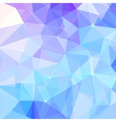 Abstract ice triangles background vector image
