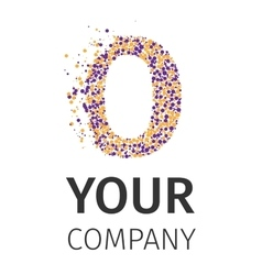 Alphabet particles logotype Letter-O vector image