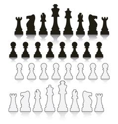 chess symbols vector image vector image