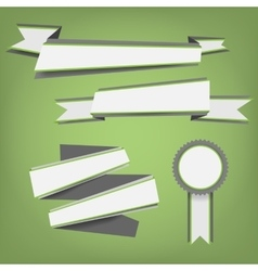 Flat color ribbons and badges vector image vector image