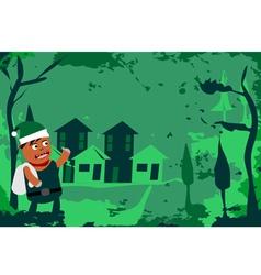 Little Green Santa vector image