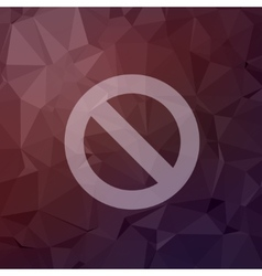 Not allowed in flat style icon vector image