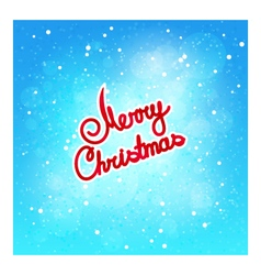 Text merry christmas on winter background vector