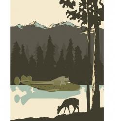 wilderness poster vector image vector image