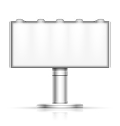 Advertising outdoor blank billboard isolated on vector image vector image