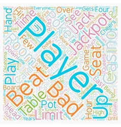 Bad Beat text background wordcloud concept vector image vector image