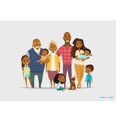 Big happy family portrait Three generations - vector image