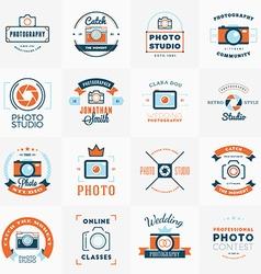 Set of Photography Logo Design Templates vector image
