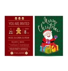 Bright cartoon invitation on christmas fun party vector