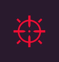 crosshair sign vector image