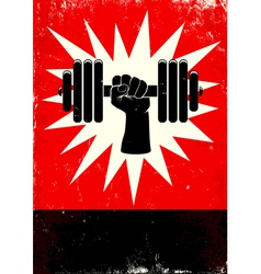 Hand and dumbbells vector image