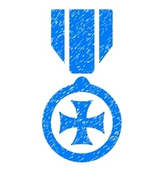 Maltese Cross Grainy Texture Icon vector image vector image