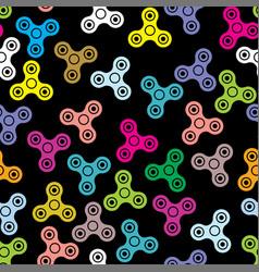 pattern hand spinner fidget toy vector image