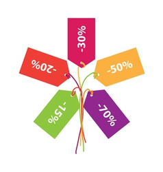 sign of discounts sales vector image vector image