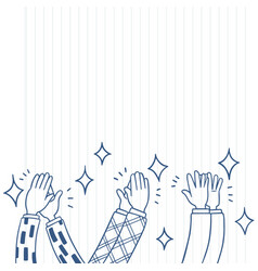 005-hand drawn human clapping ovation applaud vector