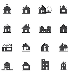1608 House icon vector image