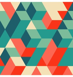 3d blocks structure background geometric pattern vector