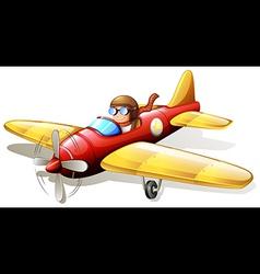 A vintage airplane vector