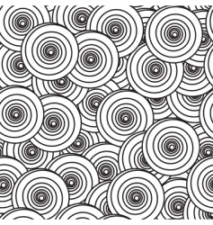 Abstract background with spiral circles vector