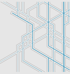 Abstract geometric overlapping lines background vector