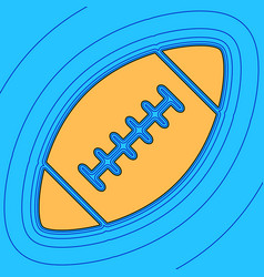 american simple football ball sand color vector image