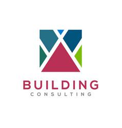 Architect building consulting logo design vector
