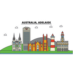 Australia adelaide city skyline architecture vector
