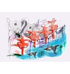 ballet Swan Lake vector image