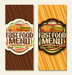 banners for fast food vector image