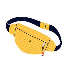 belt purse cartoon character vector image