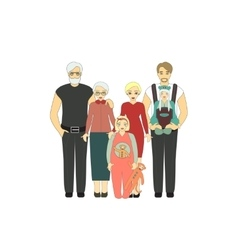 Big Happy Family vector image