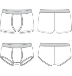 Blank male underwear vector image