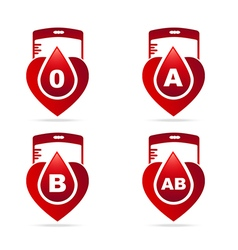 Blood typeCreative blood groups showing in a vector image