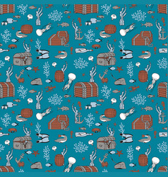bottom sea seamless pattern vector image