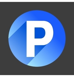 Car parking flat icon sign symbol logo vector image