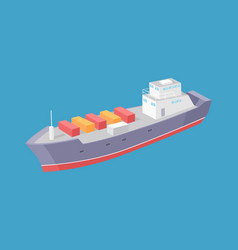 cargo ship marine commercial vessel icon vector image