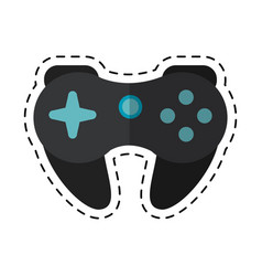 cartoon gamepad control console concept vector image