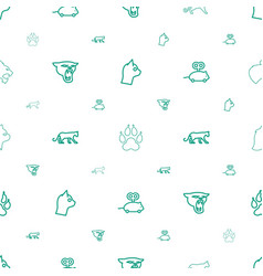 Cat icons pattern seamless white background vector