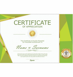 Certificate retro design template 7 vector