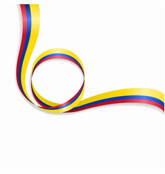 Colombian wavy flag background vector