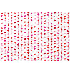colorful heart garlands valentines day romantic vector image