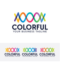 colorful logo design vector image