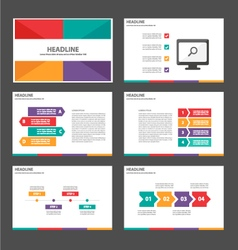 Colorful presentation template infographic element vector