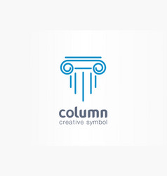 column creative symbol concept capital antique vector image