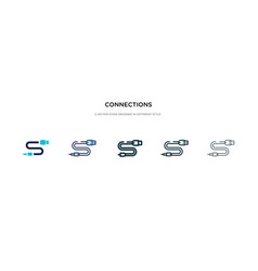 connections icon in different style two colored vector image