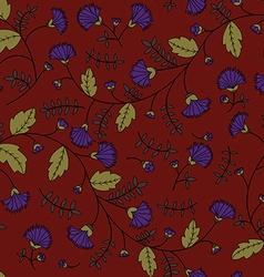 Cornflower pattern seamless texture vector image