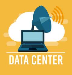 data center technology vector image